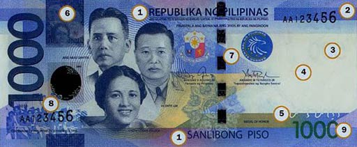 PHP 1000 note obverse
