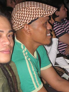 Brownbuds Mendel's Legacy vocalist Amiel Jim Penecios and bassist Milo Miranda enjoying a show. They both come from the culture-rich barangay of Napo in Loon.