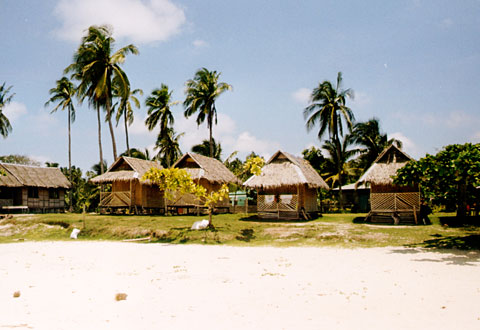 Cottages on Pamilacan Island