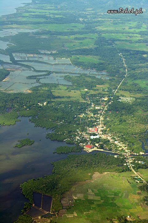 Areal view of Calape