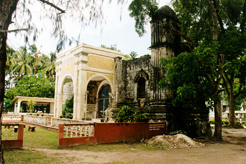 Panglao Facade of Old Church