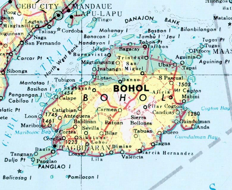 Map of Bohol
